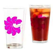 dj solomon Florish Pink Magenta Drinking Glass