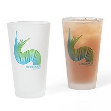 dj solomon Wave Green Blue Drinking Glass