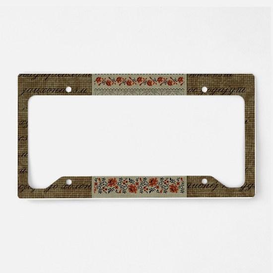 Ukrainian Embroidery License Plate Holder