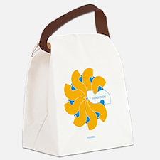 dj solomon Florish blue Yellow Canvas Lunch Bag