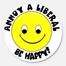 Annoy a Liberal Button Round Car Magnet