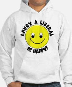 Annoy a Liberal Button Hoodie