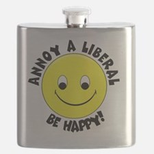 Annoy a Liberal Button Flask