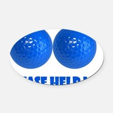 Blueballs Oval Car Magnet