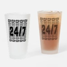 OCCUPY 24/7 shirt Drinking Glass