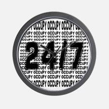 OCCUPY 24/7 shirt Wall Clock