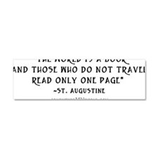 World is a book - White Car Magnet 10 x 3