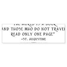 World is a book - White Bumper Sticker