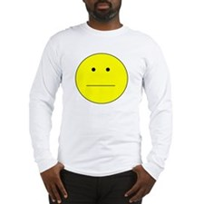 Straight Smiley Face Long Sleeve T-Shirt