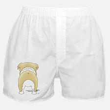 BlondeBulldogShirtBack Boxer Shorts
