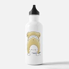 BlondeBulldogShirtBack Water Bottle
