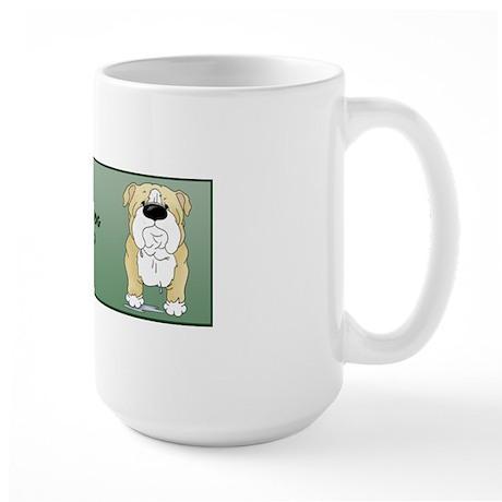 BlondeBulldogDadMug Large Mug