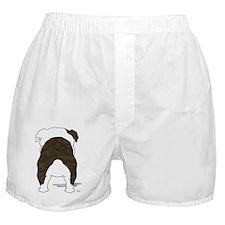 BrindleBulldogShirtBack Boxer Shorts