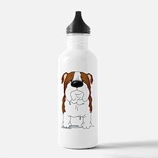 RedBulldogShirtFront Water Bottle