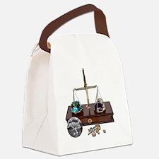 WeighingGemsOnScale120911 Canvas Lunch Bag