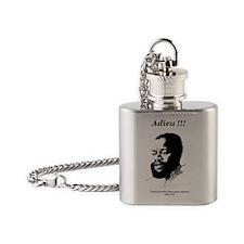 Ojukwu sketch white Adieu Flask Necklace