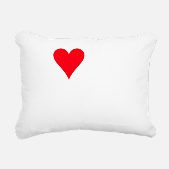 iheartchug_black Rectangular Canvas Pillow