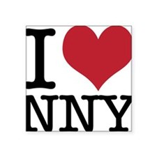 "I Heart Heart New New York Square Sticker 3"" x 3"""
