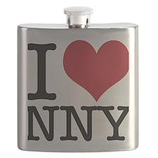I Heart Heart New New York Flask