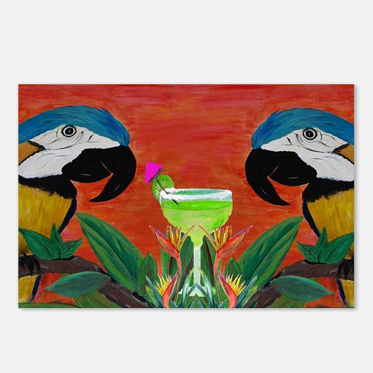 Parrots  Margarita Postcards (Package of 8)