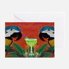 Parrots  Margarita Greeting Card