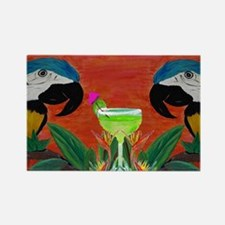 Parrots  Margarita Rectangle Magnet