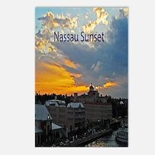 sunset Nassau7.16x10.28 Postcards (Package of 8)