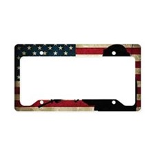 New Numbnut Flag License Plate Holder