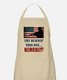 Try Numbnut White Apron
