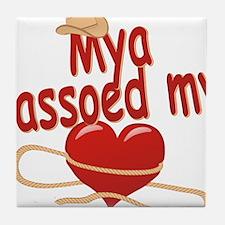 mya-g-lassoed Tile Coaster