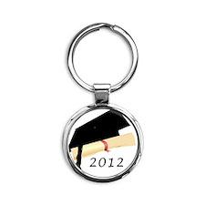Grad_2012.gif Round Keychain