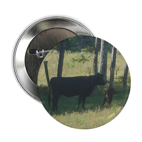 "angus cow & calf 2.25"" Button (10 pack)"