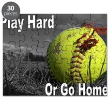 softball play hard or go home Puzzle