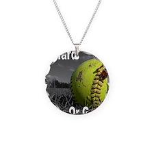 softball play hard or go hom Necklace