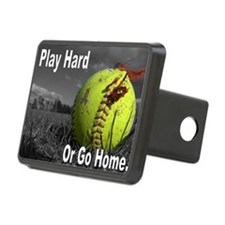 softball play hard or go h Hitch Cover