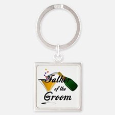 father of groom black Square Keychain