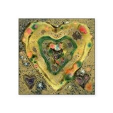 "heart-of-stone-5.25-one Square Sticker 3"" x 3"""
