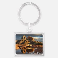 cathedral mesa storm_text botto Landscape Keychain