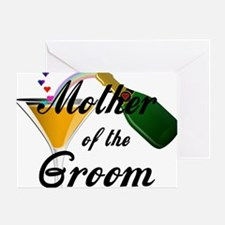 mother of groom black Greeting Card