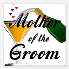 "mother of groom black Square Car Magnet 3"" x 3"""