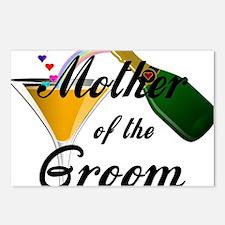 mother of groom black Postcards (Package of 8)
