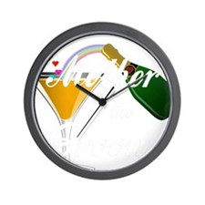 mother of groom white Wall Clock