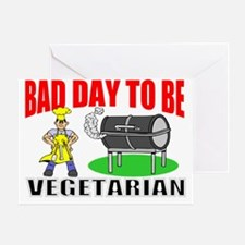 Funny BBQ veggie Greeting Card