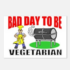 Funny BBQ veggie Postcards (Package of 8)