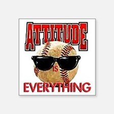 "AttitudeBB2-7-12NEW Square Sticker 3"" x 3"""