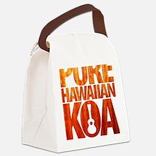 Pure Hawaiian Koa Canvas Lunch Bag