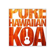 """Pure Hawaiian Koa Square Sticker 3"""" x 3"""""""