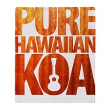 Pure Hawaiian Koa Throw Blanket
