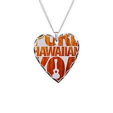 Pure Hawaiian Koa Necklace Heart Charm