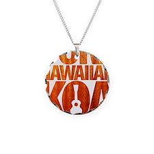 Pure Hawaiian Koa Necklace Circle Charm